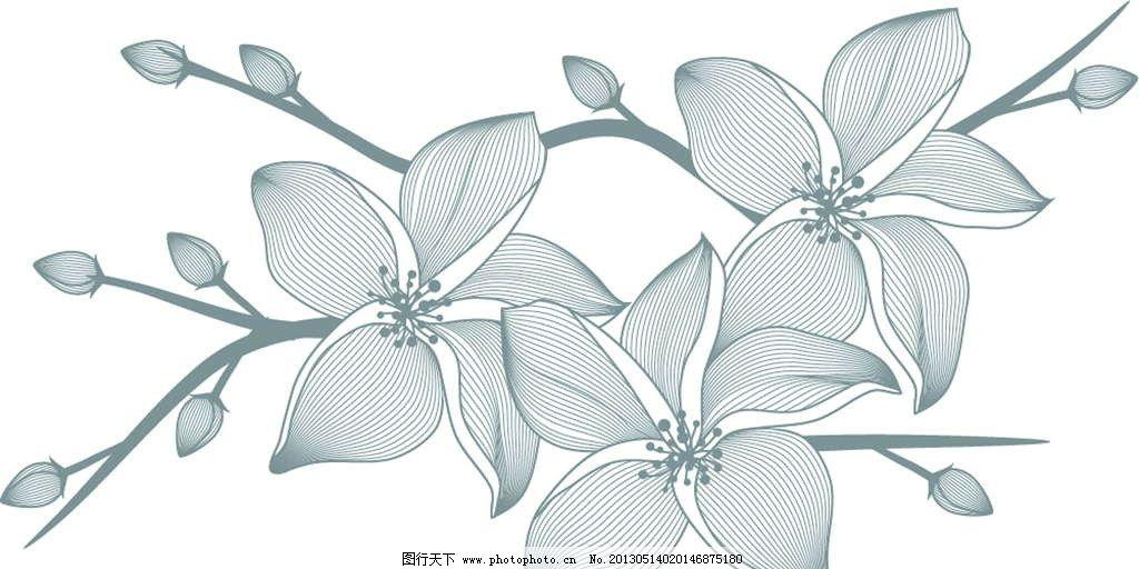 背景花纹 背景底纹 花卉 鲜花 花朵 花瓣 鲜花图案 手绘 漫画 彩绘