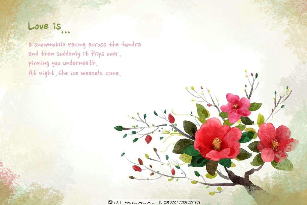 山茶花 花纹图案 鲜花背景-精美红色剪纸花纹背景图片图片