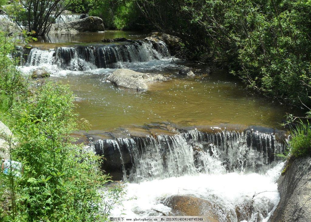 小溪 崂山 秋季 树林 户外 山水风景 自然景观 摄影 180dpi jpg 风景