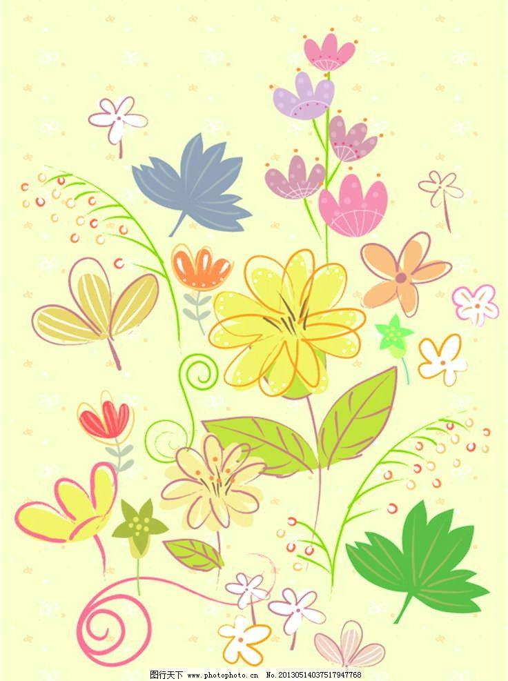 背景花纹 背景底纹 花卉 鲜花 花朵 花瓣 植物 绿植 鲜花图案 手绘