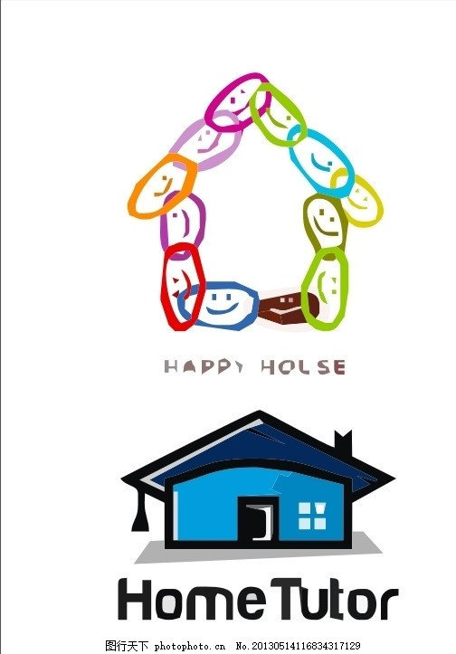 房子logo 屋子 房子 外国 国外 西方 欧美 西式 欧式 简洁 简单