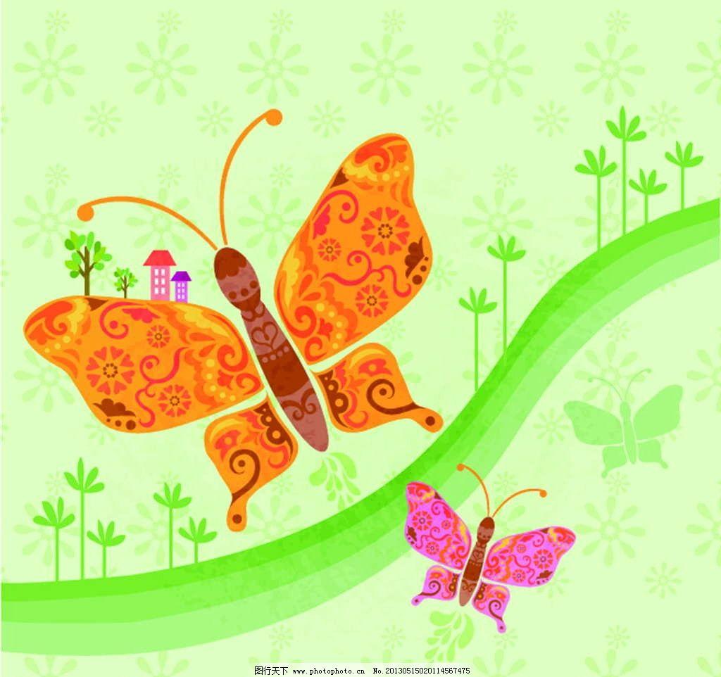 童话蝴蝶画画图片