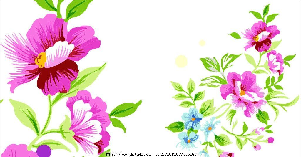 花纹背景 底纹背景 矢量花纹 手绘花儿 花纹花边 底纹边框 矢量 cdr