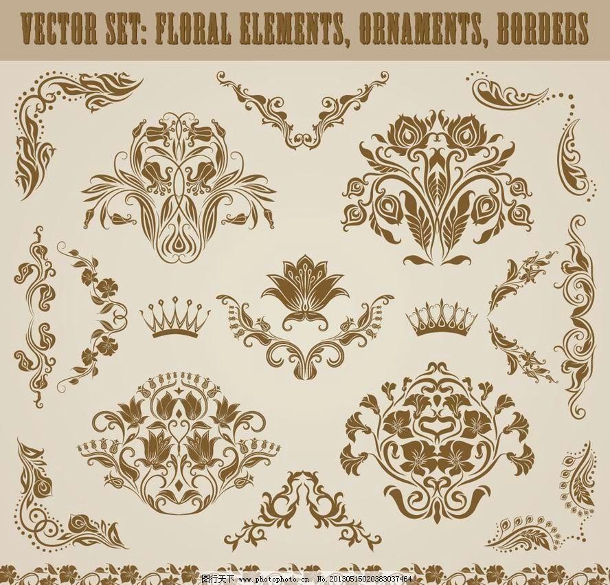 欧式花纹 欧式 古典 花纹 花边 角花 边角 边框 装饰 设计 古典花纹
