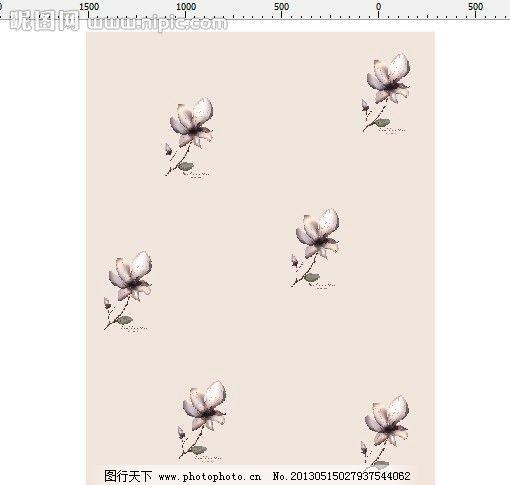 图案 百合 花 紫色花 欧式花纹