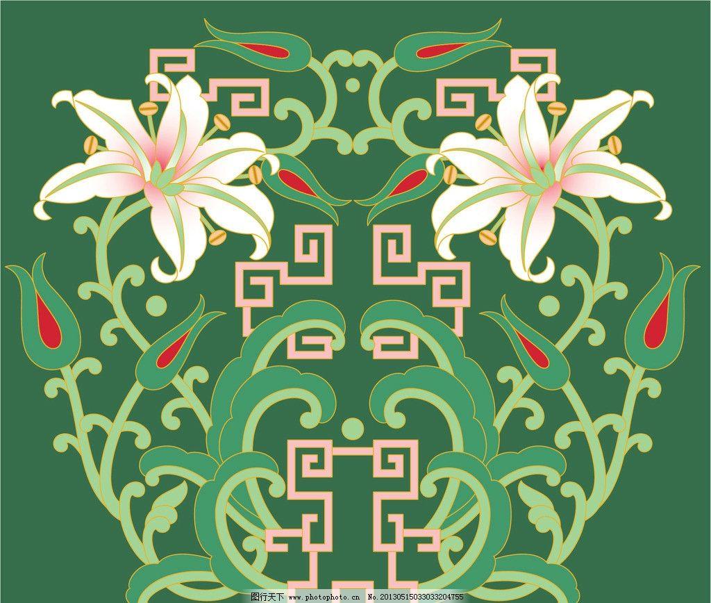 古典描画花线条 欧式镂空 花纹 边框 源文件