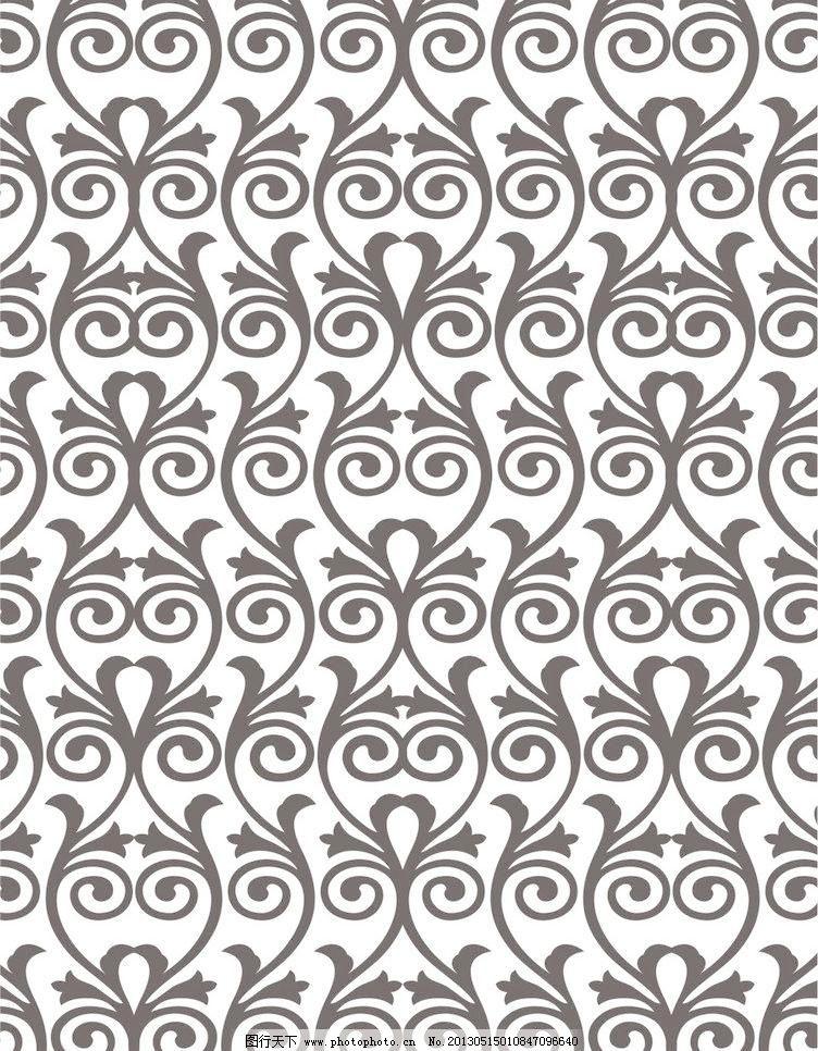 欧式潮流图案 背景 底纹背景 底纹边框 电视背景墙 对比 对称