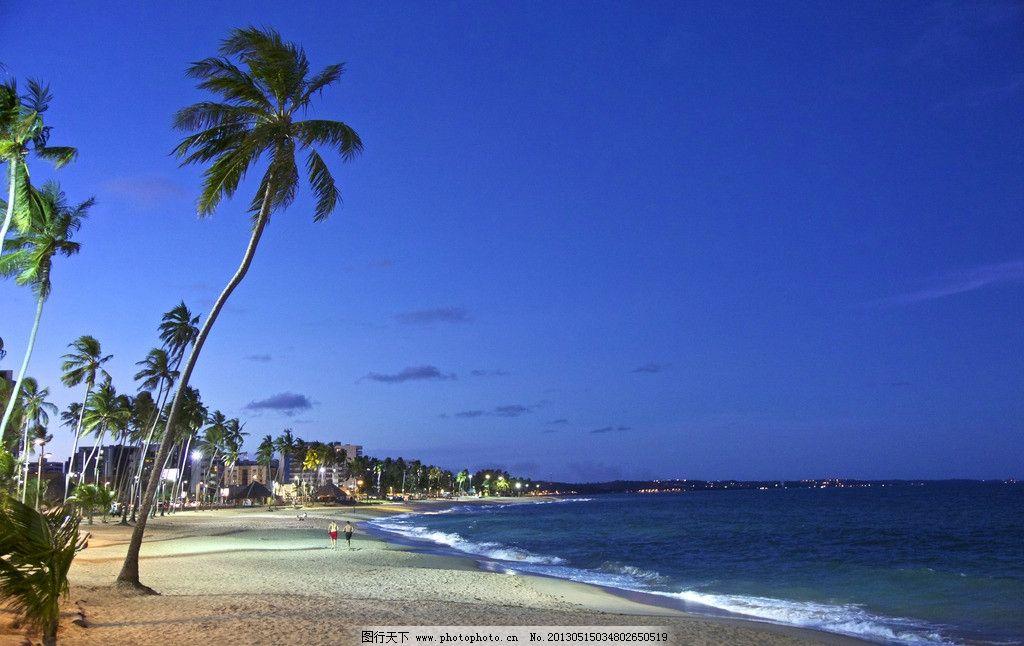 唯美海边 蓝天白云 海水 大海 蓝色海洋 沙滩 唯美风景 自然风景 自然