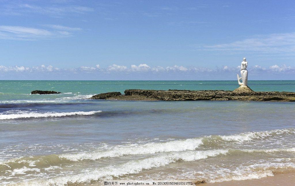 唯美海边 蓝天白云 海水 大海 蓝色海洋 唯美风景 自然风景 自然景观