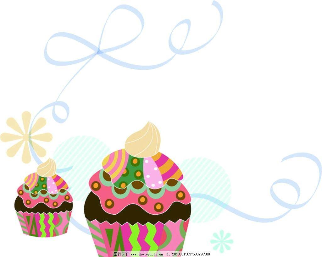 蛋糕 糕点 点心 花纹图案 花朵图案 背景花纹 背景底纹 鲜花图案 手绘