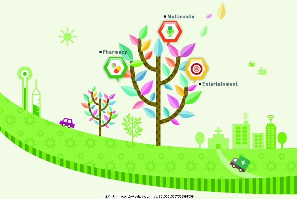 绘画简笔画大树