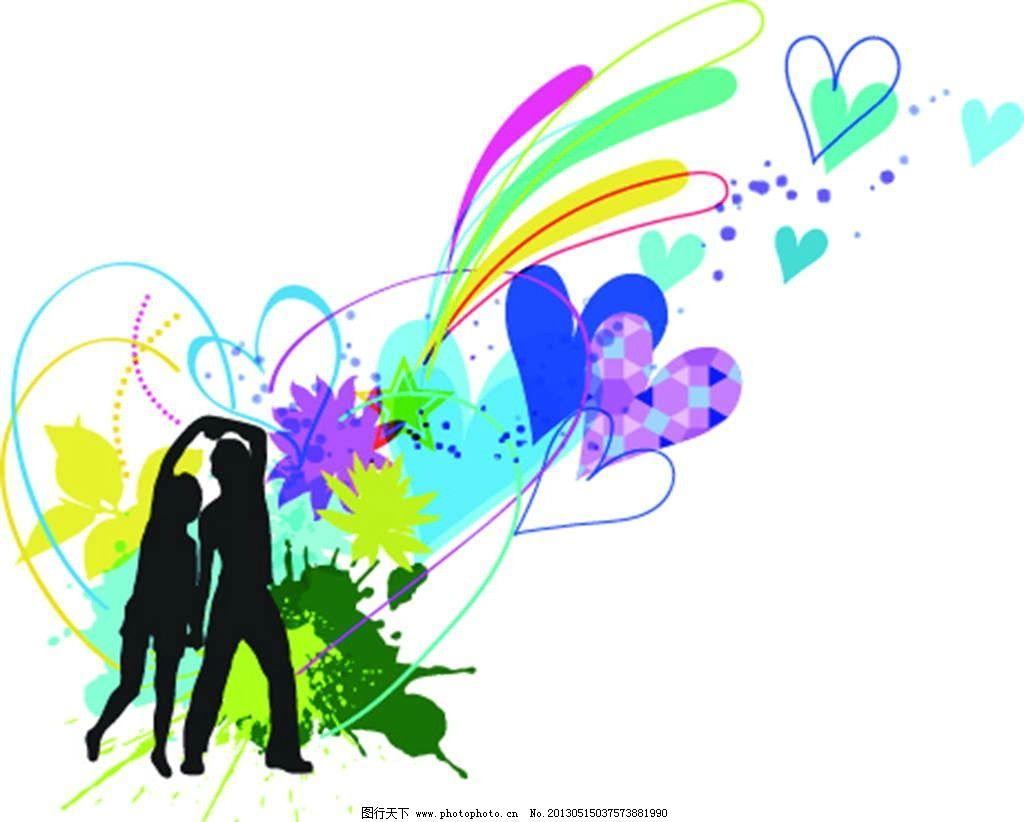 花朵图案 背景花纹 背景底纹 鲜花图案 手绘 漫画 彩绘 水彩画 卡通