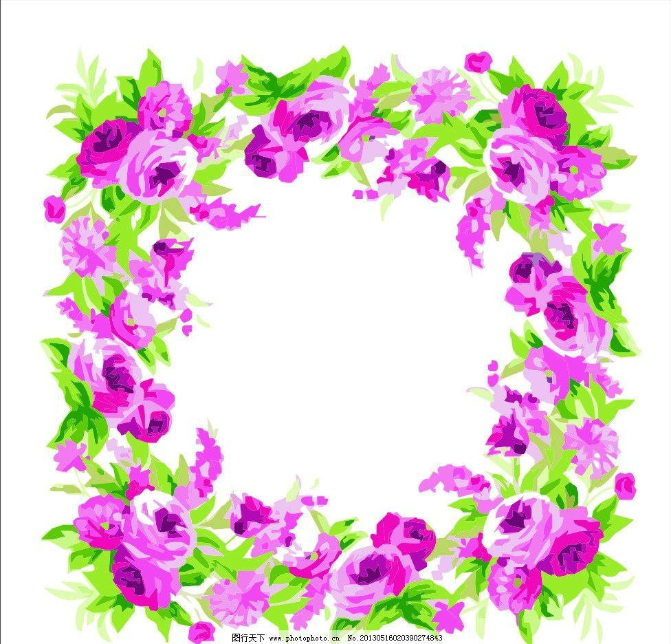 花纹 玫瑰花 花边 相框花边 装饰花纹 欧式花纹 韩式花纹 日式花纹 经