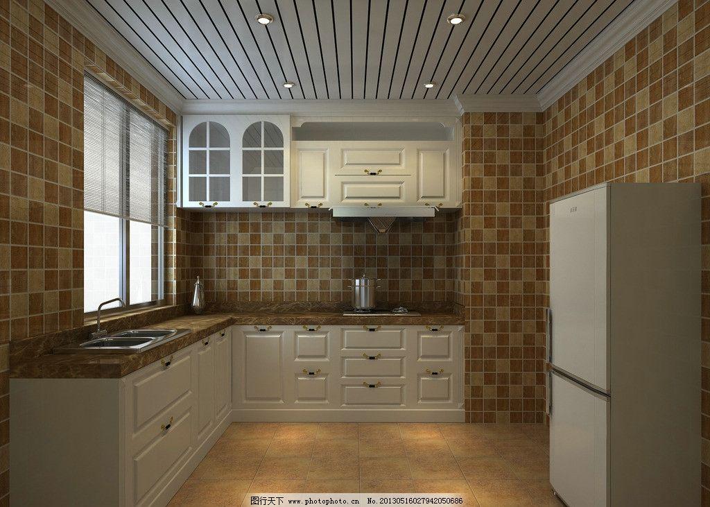 欧式厨房图片_室内设计