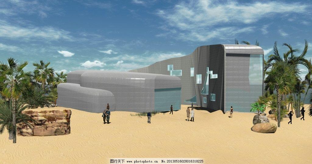 室外场景 建筑 环艺 设计      场景 蓝天 建筑设计 环境设计 72dpi j