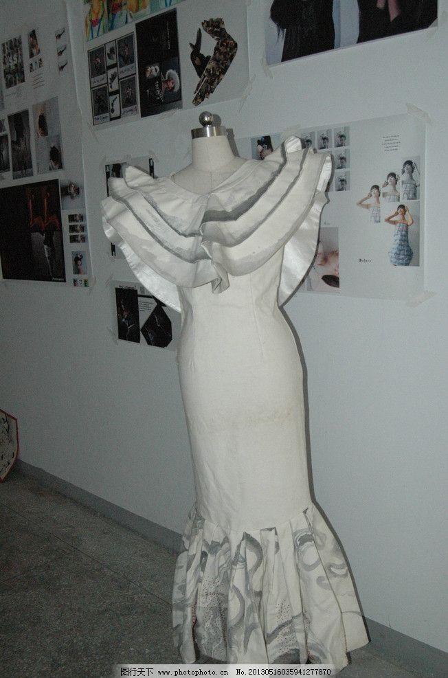 服装设计展示 手工 手工制作 服装设计 服装 服装展示 白色的衣服