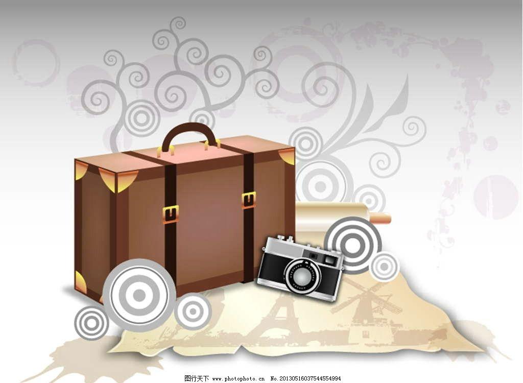 旅行箱照相机图片