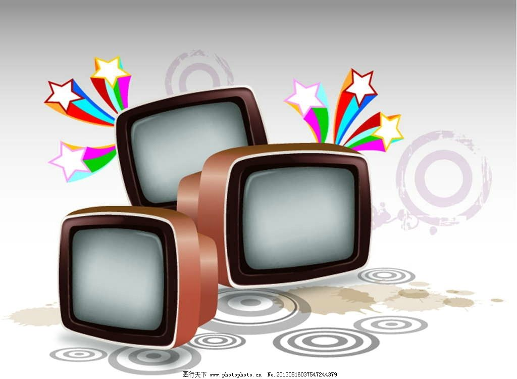 老式電視機圖片