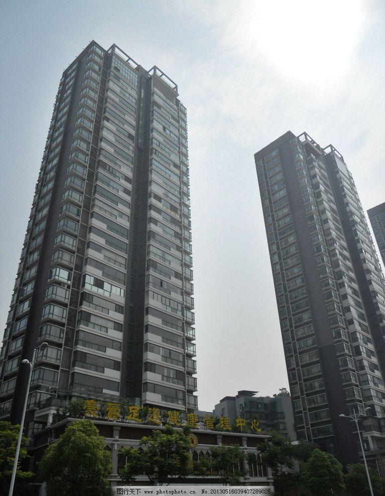 宜昌楼宇一角 高楼 天空 建筑 街景 门面 宜昌城市建筑工地 建筑摄影
