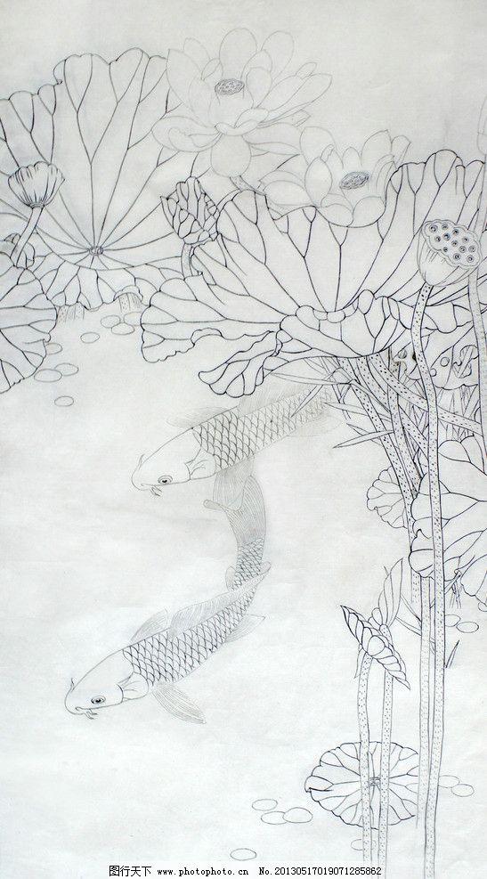工笔画白描教学示范 传统人物画稿 亚马逊 图书