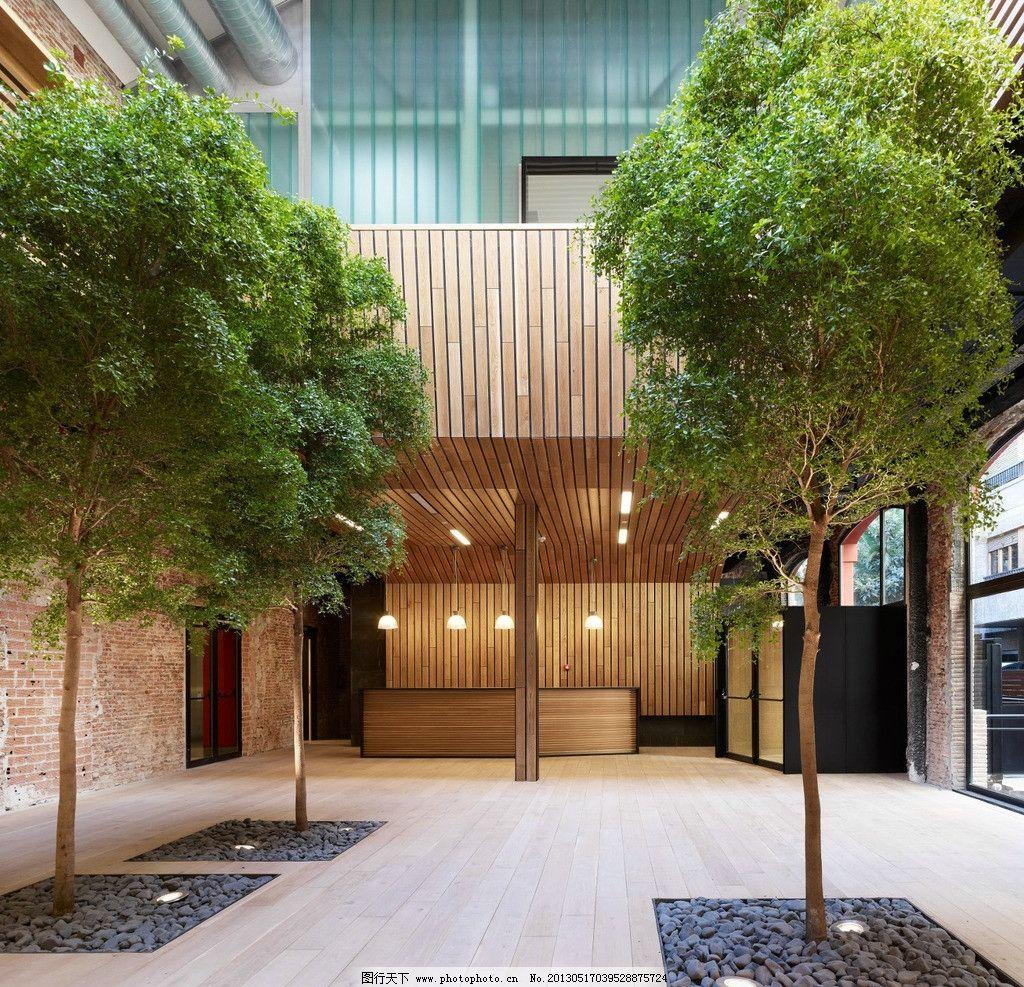 植物配置 现代风格 艺术设计 种植设计 厂房改装 开敞空间 园林建筑