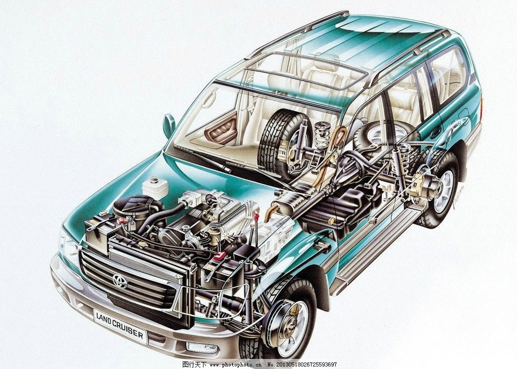 福特 汽车透视图图片