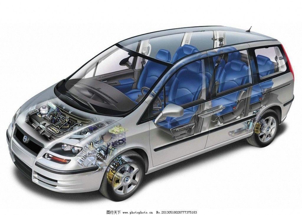 福特 汽车透视图 汽车 福克斯 ford 跑车 长安福特 概念车 嘉年华 tra