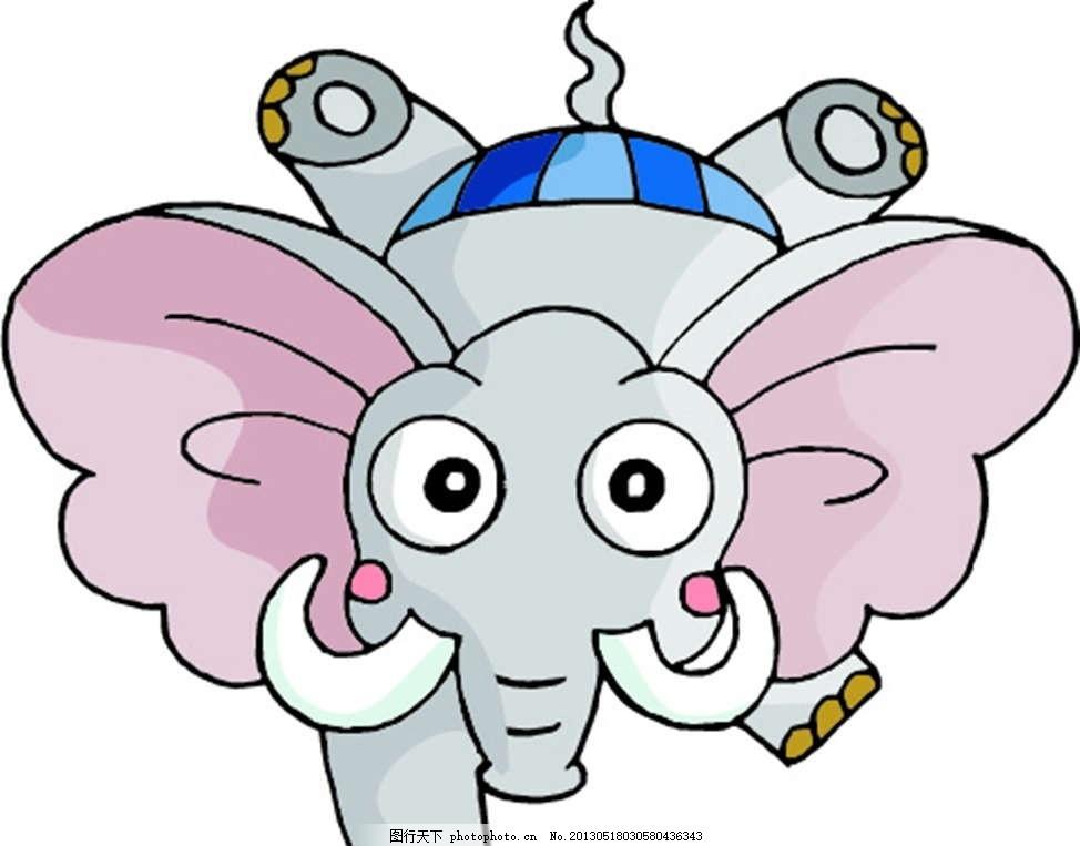 大象 小象 可爱 动物 插画 背景画 动漫 卡通 时尚背景 背景元素 图画