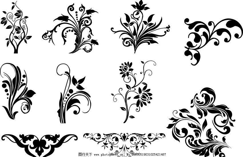 矢量花纹 矢量图 树叶 底纹 圆圈 其他设计 广告设计