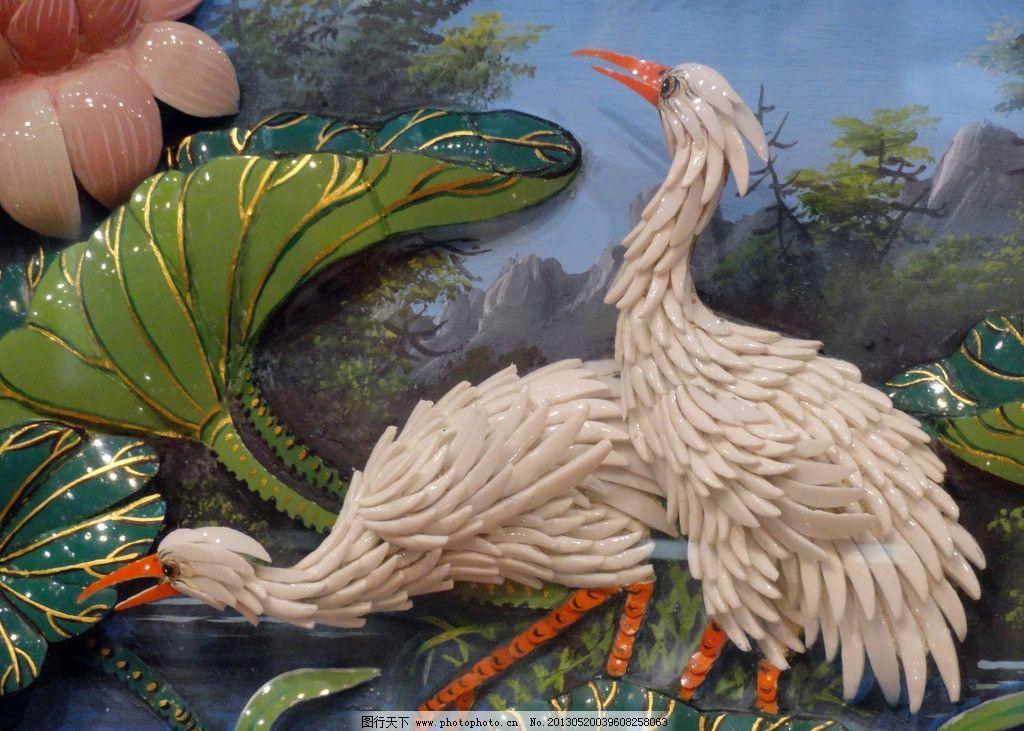 陶瓷 陶瓷工艺 陶 仙鹤 陶瓷艺术 荷花 建筑园林 摄影