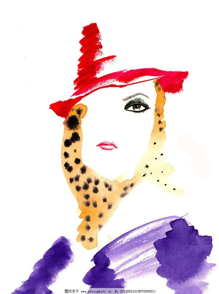 水彩画 美女 插画设计素材 插画模板下载 插画 速写 眼睛 画面 女人