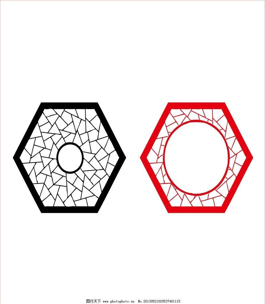 窗户边框 窗户 木头 边框 圆形 五边形 传统图形 大小圆 可更改的 不