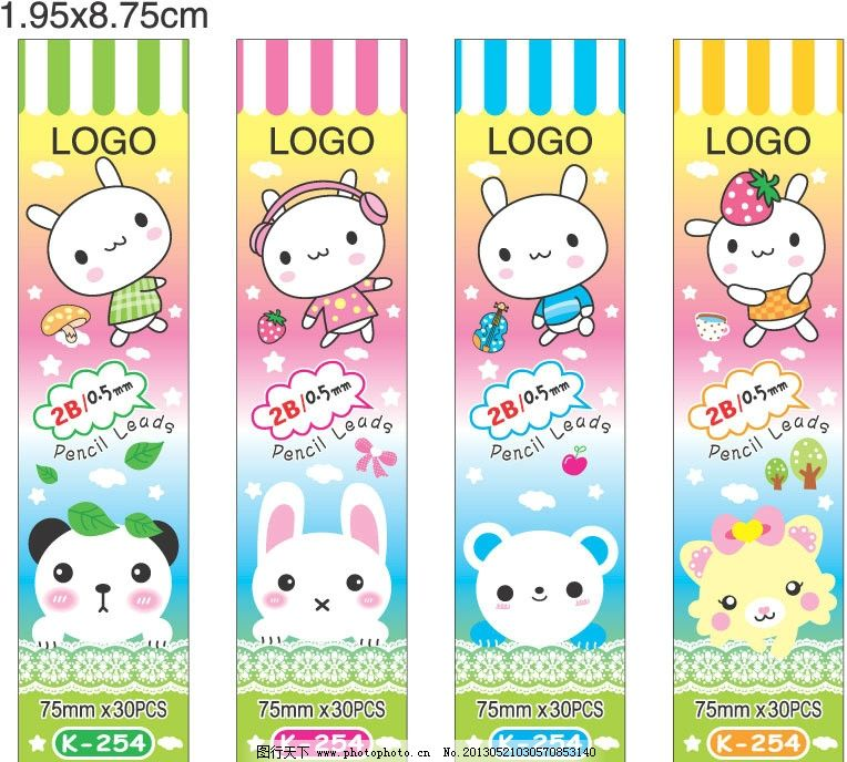 熊猫头 兔子头 小熊头 小猫头 搭配 花纹 卡通设计 广告设计 矢量 eps