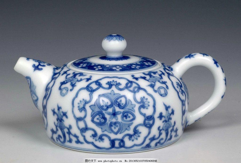 茶杯 青花瓷 青花瓷茶壶 青花瓷茶杯 古典 花纹 中国风 茶具 水壶
