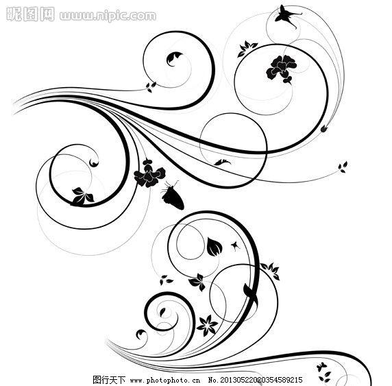 花边 边框 边角 花卉 怀旧 复古 古典花纹 时尚花纹 梦幻花纹 对称