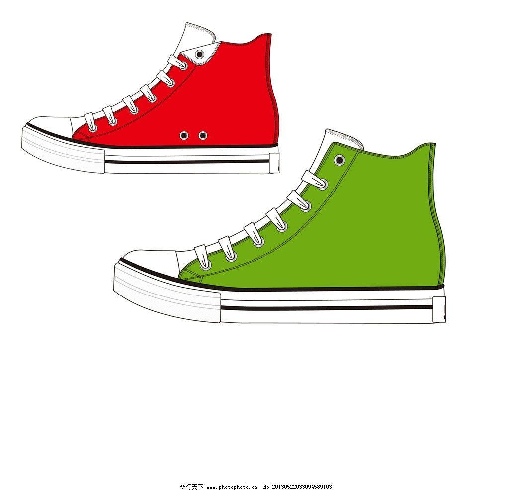 帆布鞋 手绘帆布鞋 休闲帆布鞋 psd分层素材 源文件 150dpi psd