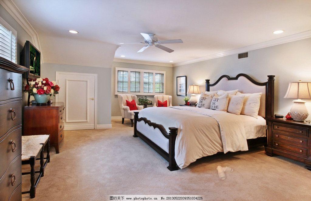 白色欧式豪华别墅卧室图片