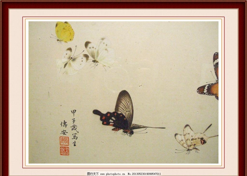 蝴蝶工笔绘画