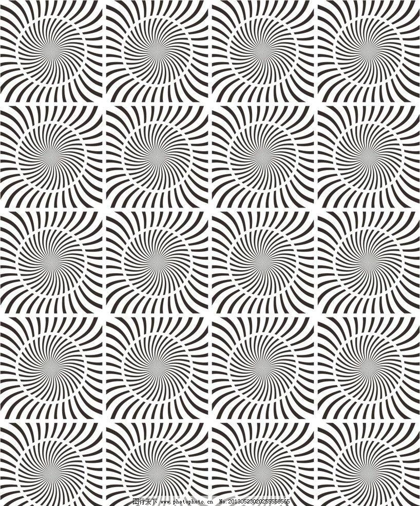 抽象手绘旋风黑白