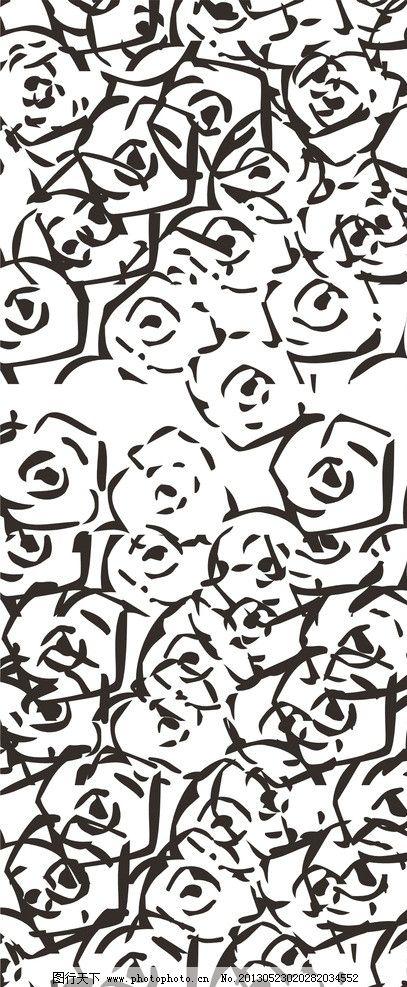 设计图库 底纹边框 背景底纹  抽象玫瑰图案 简洁 主流 潮流 玫瑰花