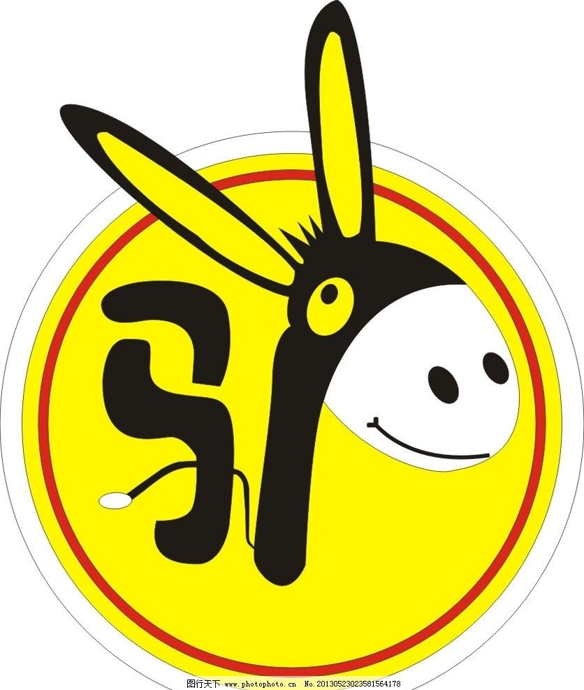 矢量卡通驴 卡通驴 驴标志 动画矢量驴 发光字 幼儿卡通 儿童幼儿