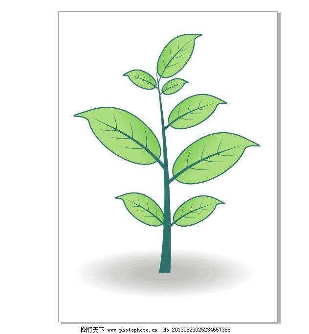 小树叶 小树 树叶 绿色 树 树茎 树木树叶 生物世界 矢量 cdr