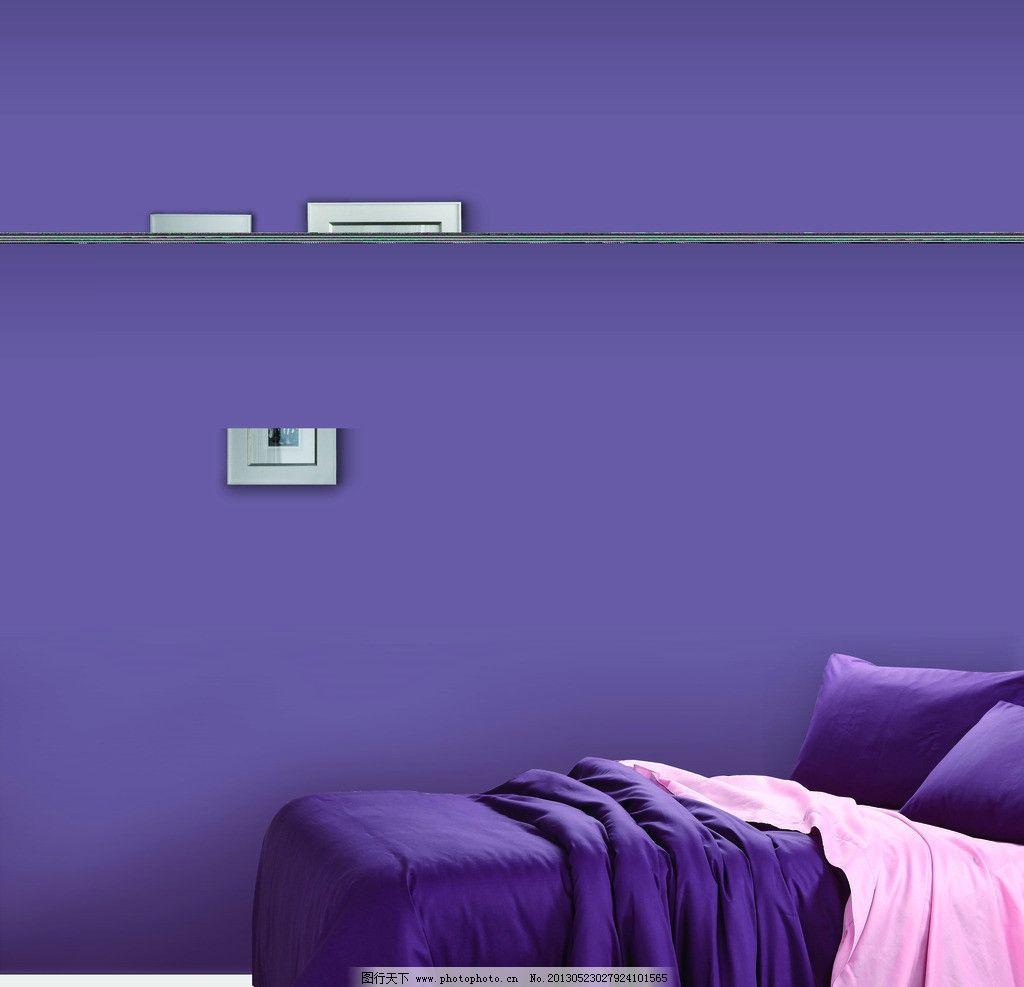 室内设计 家居装饰 家居一角 墙纸设计 墙壁 欧式装修 大床 卧室装修