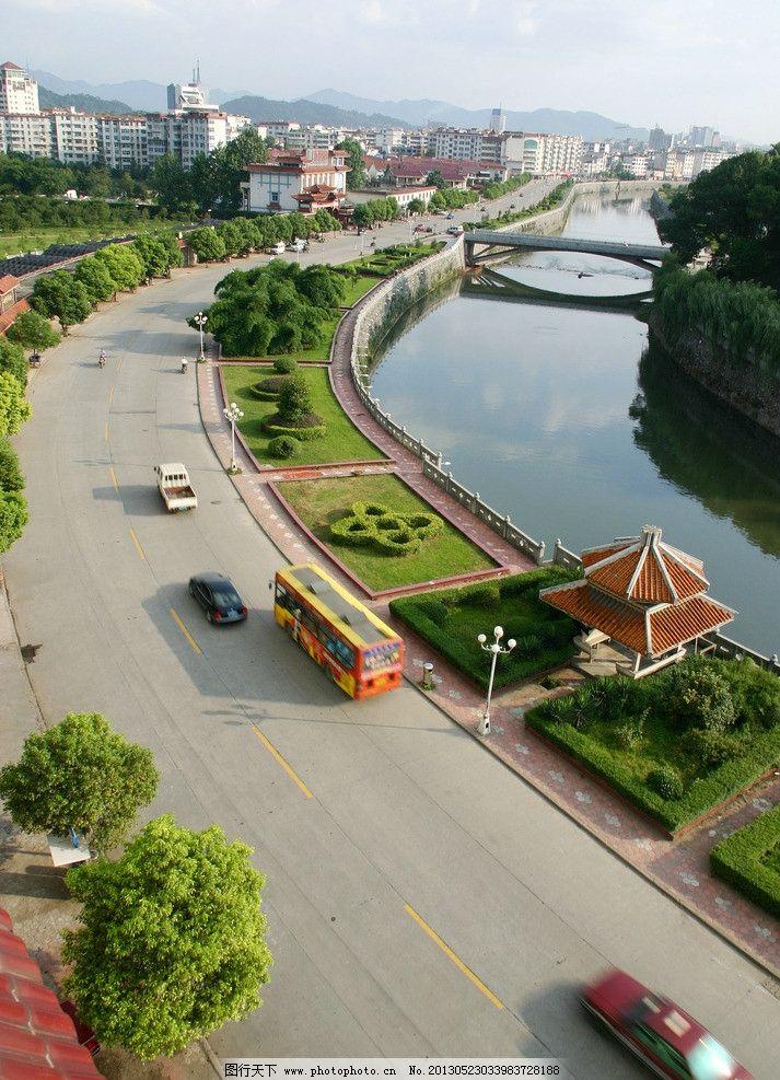 沿河路 桥 沿河路桥 绿化 马路 名盛风景 国内旅游 摄影