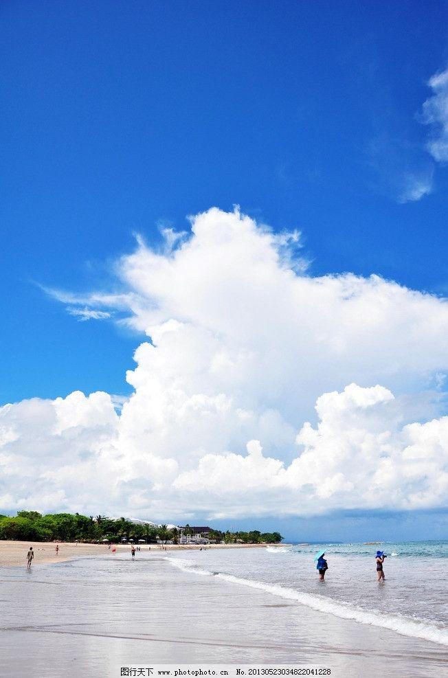 巴厘岛 海边 云 沙滩 风景 自然风景 自然景观 摄影