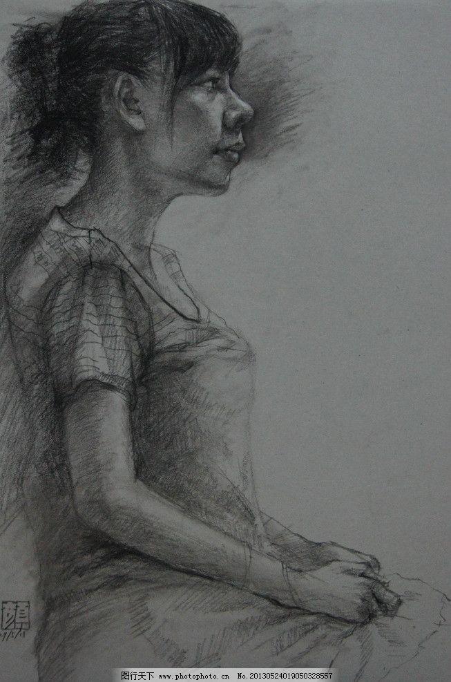 人物素描图片