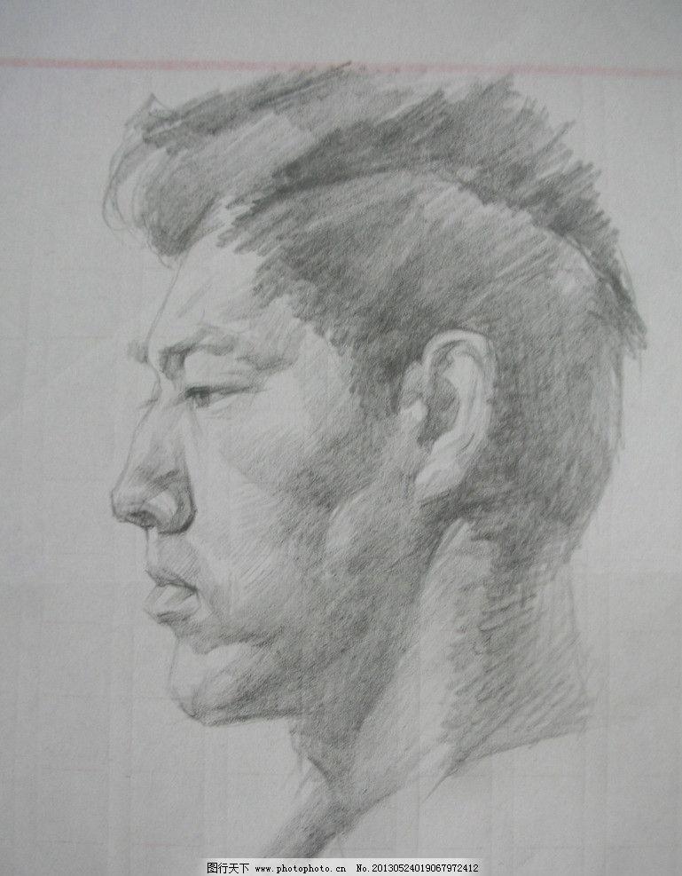 人物素描 男孩 设计 美术 艺术 绘画书法 文化艺术 300dpi jpg