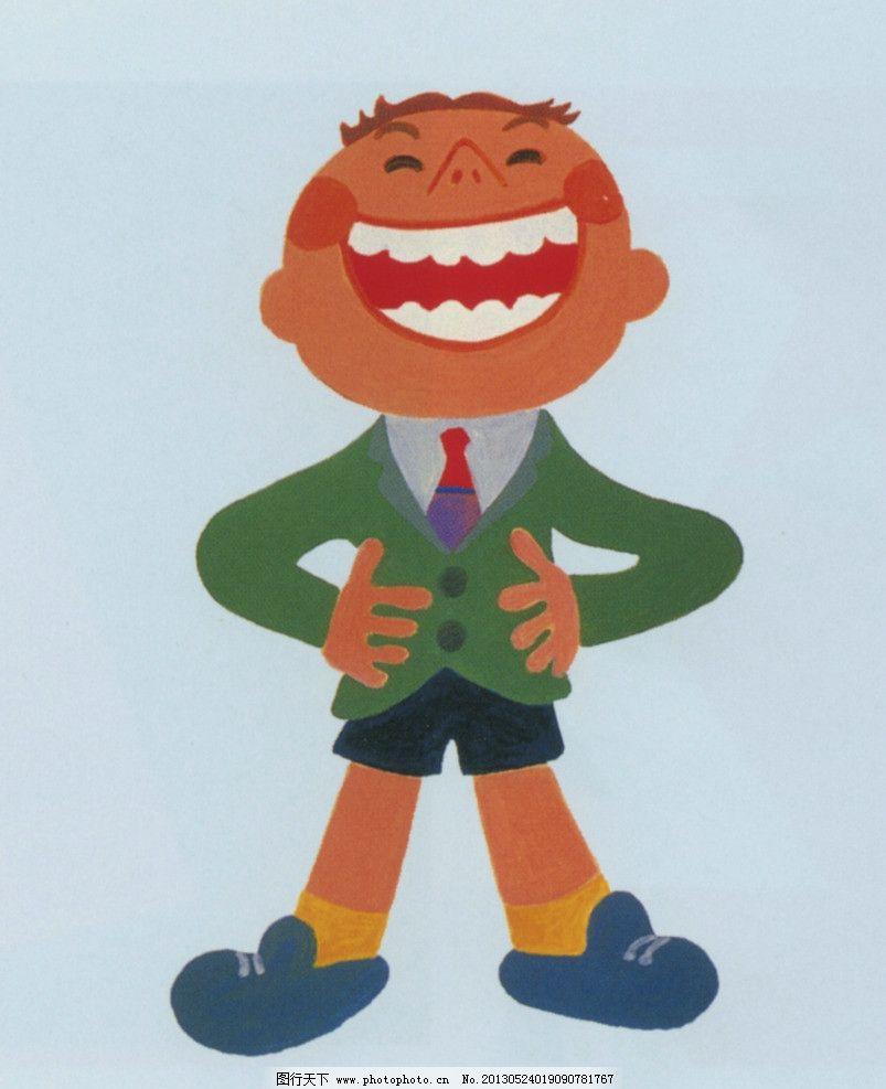 插画 儿童 小孩子 孩子 小男孩 叉腰 绘画书法 文化艺术 设计 400dpi