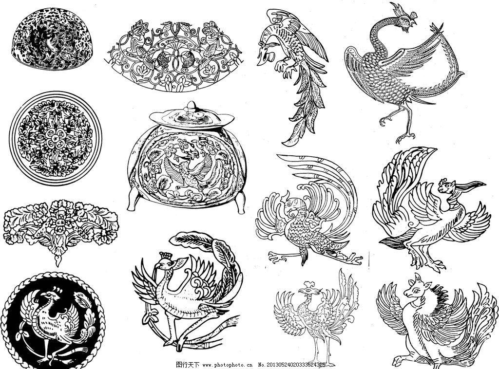 传统花纹 圆纹 佛像 观音 花鸟 龙凤 动物 生肖 花瓶 陶瓷瓶案底