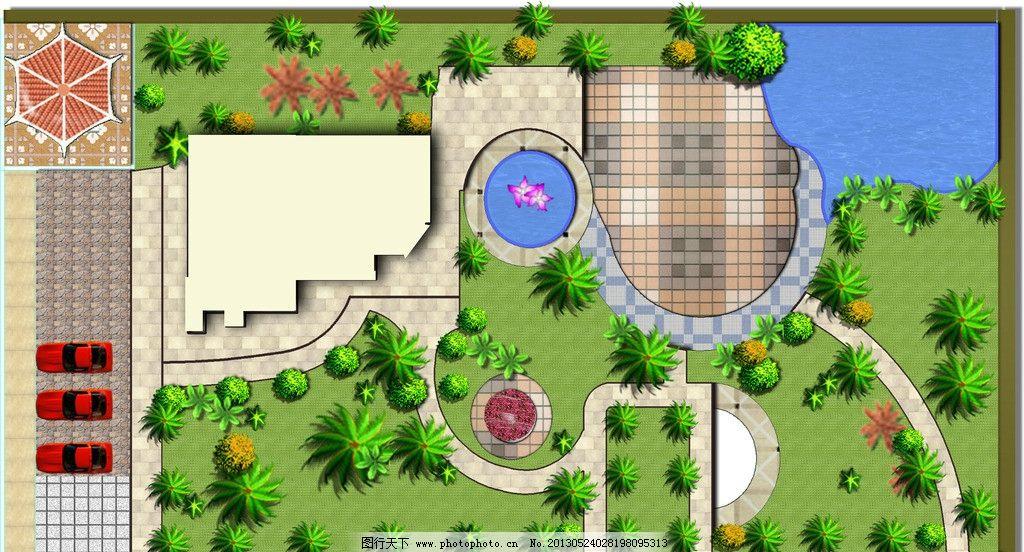 景观拼彩 景观 拼彩 ps 别墅 平面布局 素材 景观设计 环境设计 设计